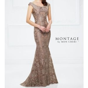 Stunning Montage by Mon Cheri dress.